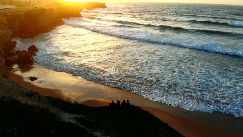 Ocean sunset in Peniche Portugal