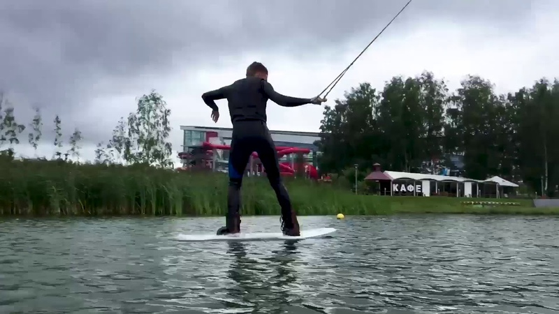 A little fun with a little Dan🦄 Wakeboarding 2018