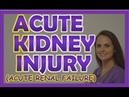 Acute Kidney Injury (Acute Renal Failure) Nursing NCLEX Review Management, Stages, Pathophysiology