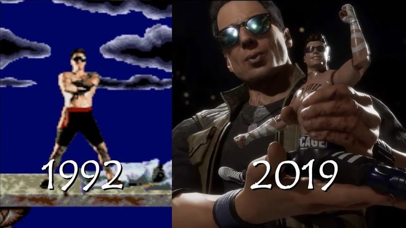 Mortal Kombat Эволюция Джонни Кейджа Johnny Cage
