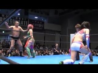 Kana, Minoru Suzuki vs. Syuri, Yoshiaki Fujiwara (10/7/2014)