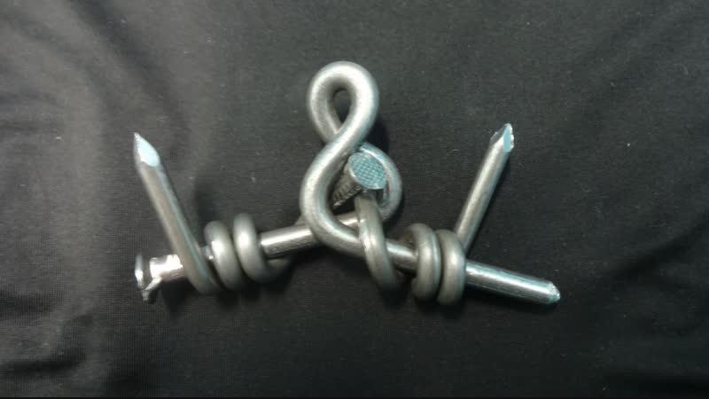 Обучалка. Фигура из трех гвоздей (омар)