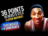 Scottie Pippen Full Highlights Christmas 1994 vs Knicks - 36 Pts, 16 Rebs, 1 CLUTCH Block!