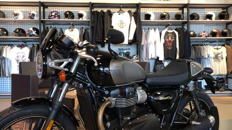 Triumph Street Cup Официальная гарантия на мотоцикл 2 года без ограничения по пробегу. Цена 767 000 руб. Трейд-ин, доставка