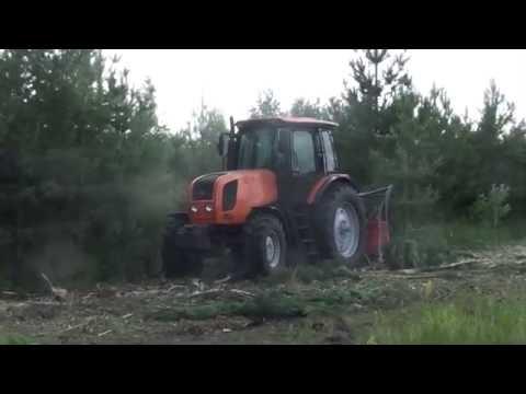Мульчер UM-Forest УМ-Форест измельчение сосны