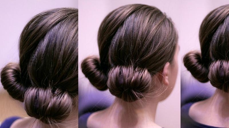 Забавные пучки с Софиста- твиста.Быстрая причёска на каждый день Hair tutorial.