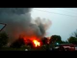 Пожар в болгарском городке