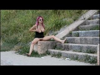 Barefoot Nudity - OXANA lazy barefoot flashing 2
