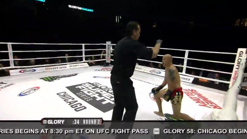 GLORY58 Results: Houssam El Kasri def. Kou Lee by TKO (knee). Round 2, 2:36