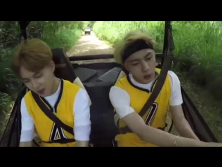 Jin jimin enjoy the buggy ride and singing so what together is so endearing to watch. i ne
