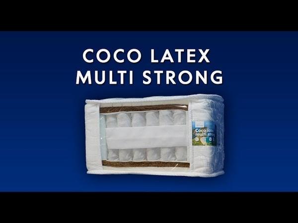Элитный матрас Coco latex multi strong на независимых пружинах