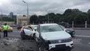 Массовое ДТП произошло на Крымском мосту