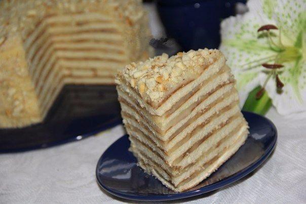Готовим тортик со сгущенкoй на сковороде