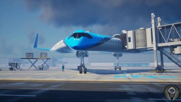 Самолет, в котором пассажиры сидят внутри крыльев