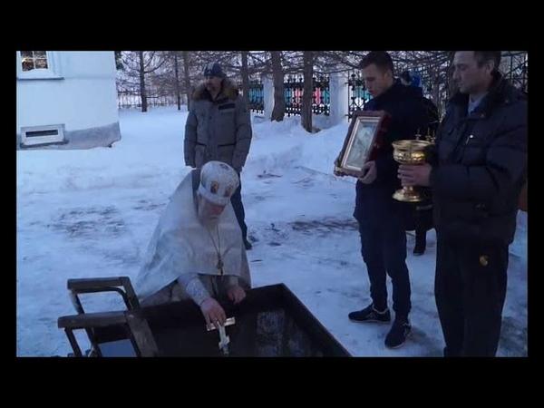 Барабинск. Крещение Господне (2019). Служба и купание в купели.