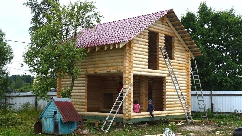Сруб бани 6.0х6.0м. полтора этажа под крышей Тосно. Цена в СПб 268.432 руб.