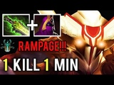 1 KILL 1 MIN + RAMPAGE Shotgun Veil Juggernaut vs Disable Team Make Enemy Rage Quit Gameplay Dota 2