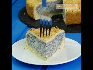 Немецкий маковый пирог с творогом