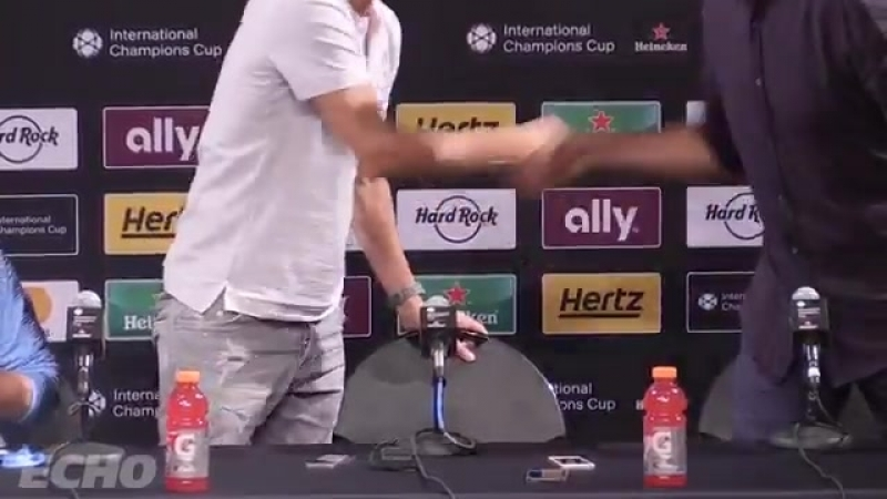 Jurgen Klopp finishes Pep Guardiolas press conference Klopp saying