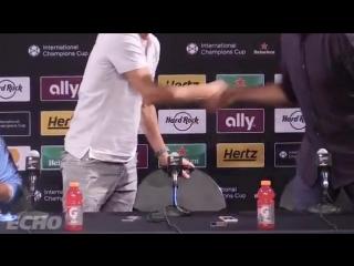 Jurgen Klopp finishes Pep Guardiolas press conference. Klopp saying