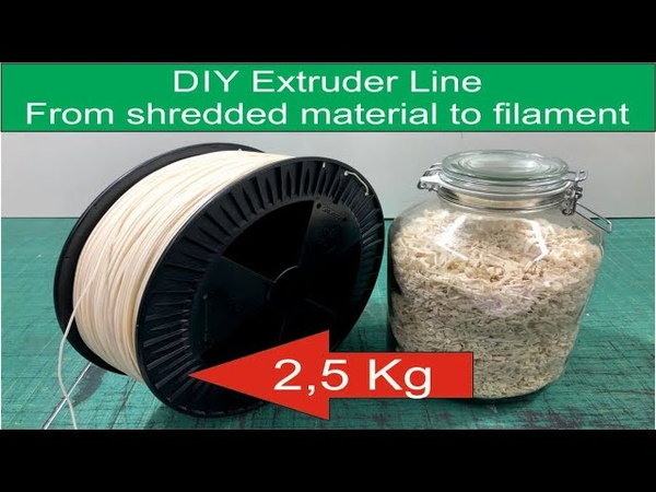 DIY 5 Kg Extruder Line From shredded material to filament