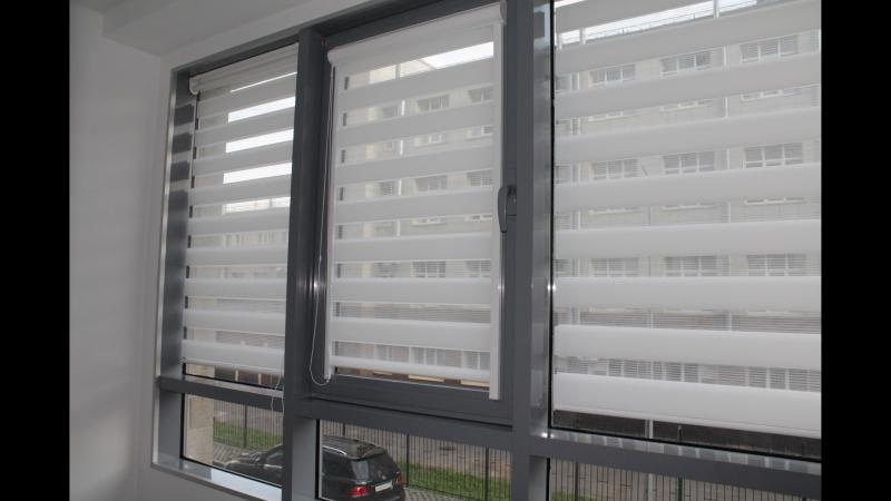 Рулонные шторы UNI 2 и MGS Зебра ткань Стандарт от Срочно Жалюзи