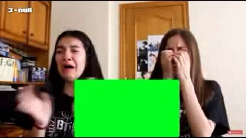 2 girls crying on a bts music video
