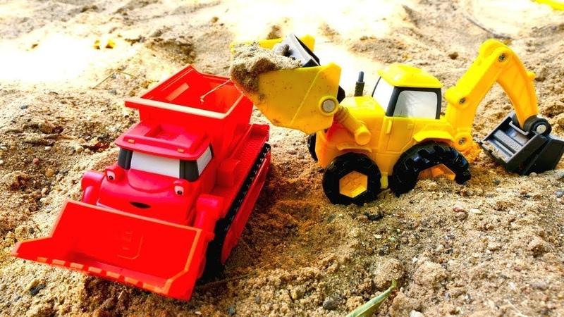 Мультики про машинки на детской площадке Песочница и Боб строитель