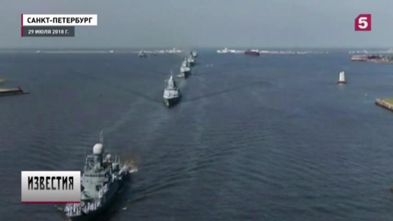 Роботы, «Калибры» и ботик Петра — репортаж с Главного военно морского парада