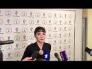 Интервью Евгении Медведевой Открытые прокаты в дворце спорта Мегаспорт 09 09 18