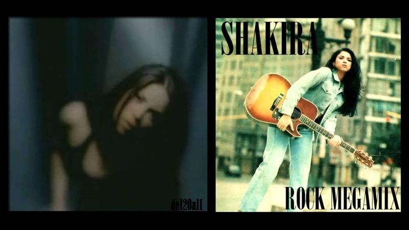 Shakira Rock Megamix (1995 - 2000) Shakira de antes HD