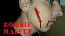 ZOMBIE MAKEOVER The wound on his face ЗОМБИ МАКИЯЖ Рваная рана на лице