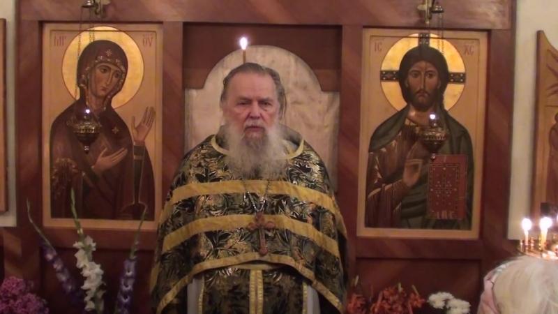 Священник Павел Адельгейм Проповедь на Литургии в день своего 75 летия в храме свв Жён мироносиц Псков 1 8 2013