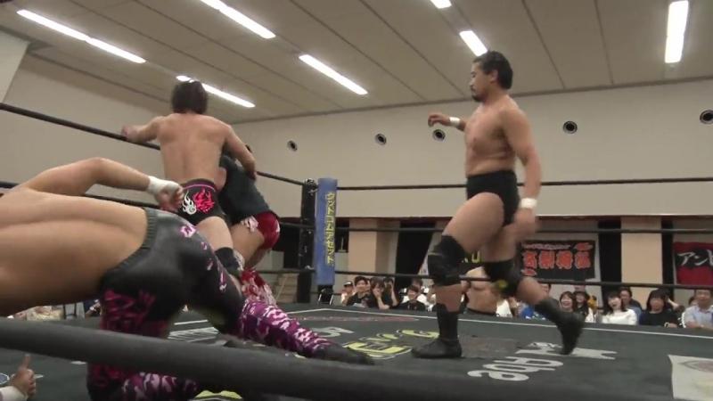 Nobuhiro Shimatani, Soma Takao vs. Keisuke Ishii, KUDO vs. Kazusada Higuchi, MAO (DDT - Road to Ryogoku 2018)