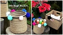 DIY Rope Basket   How to upcycle plastic bottles/cardboard boxes into pretty baskets.
