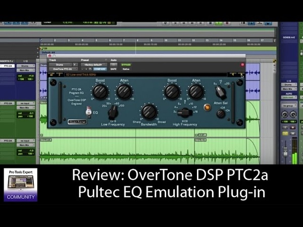 Review OverTone DSP PTC 2A Pultec EQ Emulation Plug in