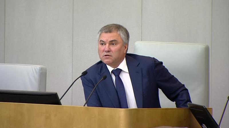 Председатель ГД Вячеслав Володин призвал воздержаться от популизма
