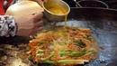 70년 전통! 노릇노릇 맛있는 동래 할매 파전 (welsh onion pancake - pajeon, ねぎのチヂミ , 葱煎饼) / kor