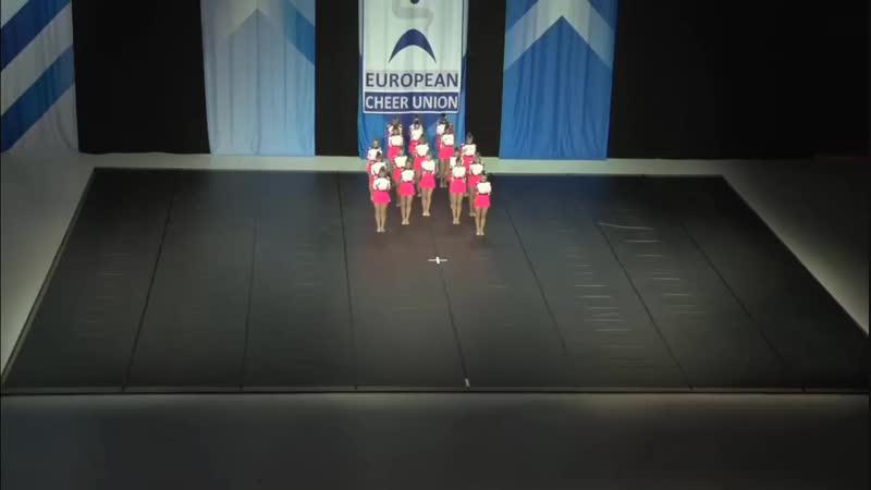 European Cheerleading Championship 2018, Helsinki. Junior Pom Russian Cheer Union, Zvezdy. 1 place