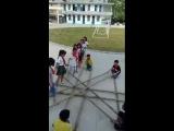 Bamboo stick dance in China