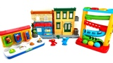 Sesame Street Play With ELMO And Cookie Monster/3 Different Toys/Learn Colors With Pop UP Toys/Baby