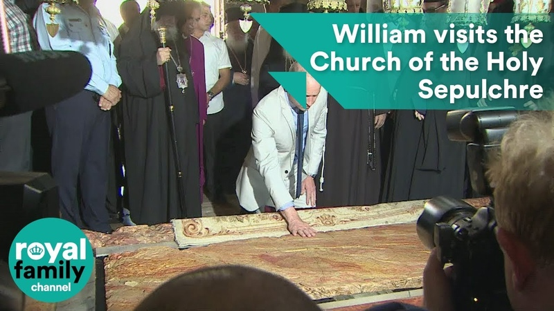 Prince William visits the Church of the Holy Sepulchre