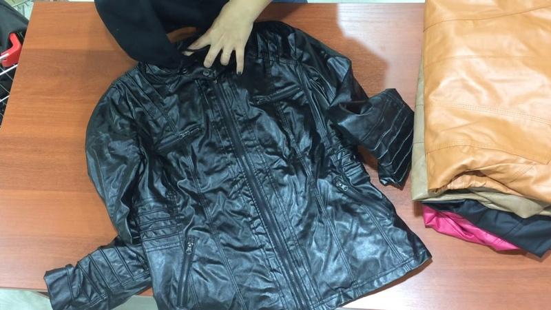 с423.1. Куртки искуствен. кожа Extra. Упаковка 24,3 кг. Цена 662 руб/кг. С/с 459 руб/шт. Количество 35 шт. Цена упаковки 16086 руб. Светлана 8-912-669-07-72