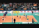 Unbelievable point by Yury Berezhko - One-hand save! CEV 2017 Russia Slovenia