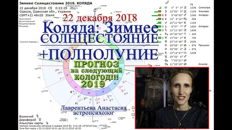 Коляда, Зимнее Солнцестояние, полнолуние 22 декабря 2018_Прогноз на 2019 год