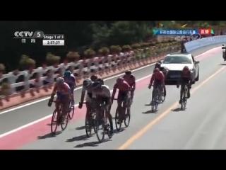 Финиш 1-го этапа велогонки