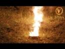 VitrAin огненное шоу под проливным дождём Церемония зажжения огненных сердец