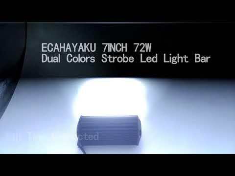 7inch 72W Dual colors Strobe Tri-row led light bar