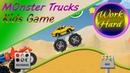 Monster Trucks Game for Kids 2 - For children under 8 years old || Work Hard