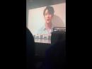 VK 180829 JINLONGGUO KIM YONGGUK Donghan's message for Yongguk @ The 1st fanmeeting